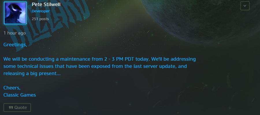 Blizz to Release